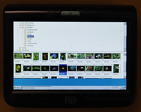 Picture 1: XnViewPocekt on an iPAQ 314